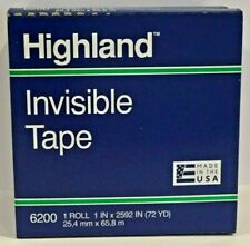 3m Highland Invisible Tape 6200 1 X 2592 Permanent 3 Core Pack Of 3 Rolls