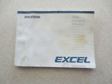 1986 Hyundai Excel automobile owners manual