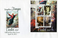 Tonga 2017 FDC Easter Art Paintings Bloch Rembrandt De Troy 4v M/S Cover Stamps