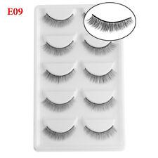 SKONHED 5 Pairs 3D Mink Hair False Eyelashes Natural Long Wispy Fake Eye Lashes