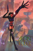 LOT OF 2 POSTERS: MTV/TV :CARTOON : AEON FLUX  - FREE SHIPPING   #3046    RP72 O