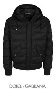 Dolce Gabbana Mens Wool Puffer, Size 48 Dark Grey, RRP £1100