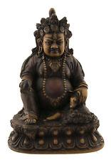 Statue tibetaine Kubera Jambhala Dieu des Richesses Vaishravana 15cm antik 25532