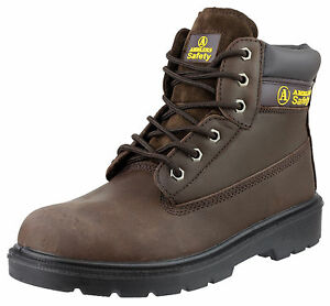 Amblers FS113 Brown Leather Lace Up Safety Work Boot