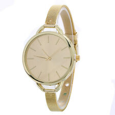 Fashion Luxury Women Quartz Stainless Steel Mesh Belt Wrist Watch Elegant Gold