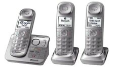 Panasonic KX-TGL463S Dect_6.0 3-Handset Landline Telephone, Silver & White
