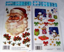 Lot of 2 Packs Rub-Ons Polar Bears Santa Claus Christmas Embellishment
