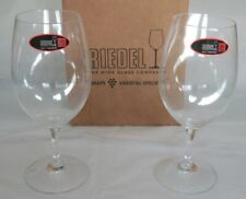 Boxed Pair Riedel Varietal Specific Wine Glasses Crystal Made in Germany