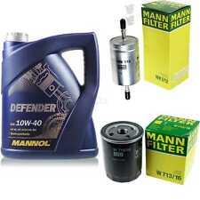 Motor-Öl 5L MANNOL Defender 10W-40 +MANN-FILTER Filterpaket Fiat Punto 176 55