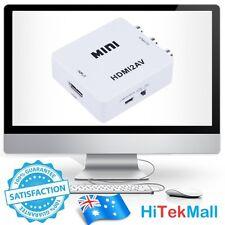 New 1080p/720p HDMI 2 AV converter Adapter to Audio Video RCA CVBS PAL NTSC Xbox