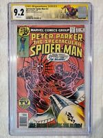 SPECTACULAR SPIDER-MAN #27 CGC 9.2 SS signed by FRANK MILLER! 1st DAREDEVIL Art!