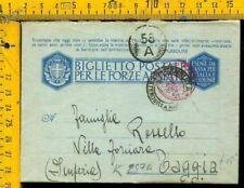 WW2 Seconda Guerra Franchigia Posta Militare  Marina x Taggia Imperia 25/7/1943