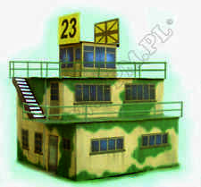 WWII RAF Control Tower  1:48 scale Model Kit ( LASERCUT PARTS - PREPAINTED) #6