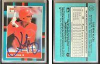Luis Alicea Signed 1988 Donruss Rookies #52 RC Card St. Louis Cardinals Auto