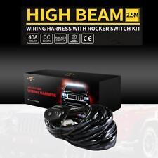 1PCS LED Wiring Loom Harness Kit Universal Driving Work light Bar 12V 40A Relay