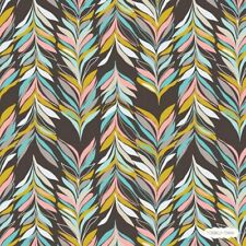 Abstract Feather Cotton Fabric Jessica Swift Sardinia Art Deco Blend .5 metre