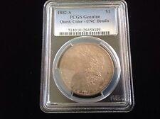 1882-S Morgan Silver Dollar PCGS Quest. Color - UNC Details