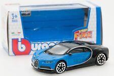 Bugatti Chiron in Blue/Black, Bburago 18-30348, scale 1:43