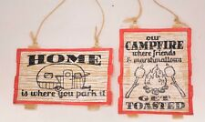 Camping Signs Christmas Ornament - Set of 2