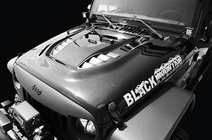 Black Mountain Power Dome Hood 10th Anniversary fits 2007-2018 Jeep Wrangler JK