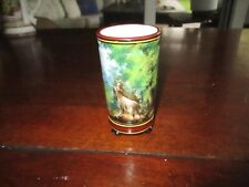 Small Footed Hand Painted Vase - Manifra Ginori