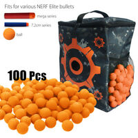 100pcs  Round Balls + Target Storage Bags For For Nerf Rival Apollo Zeus Toy