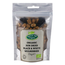 Organic Sun Dried Black & White Mulberries 75g Certified Organic
