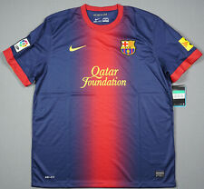 FC BARCELONA season 2012 2013 home jersey camiseta XL extra large UNICEF