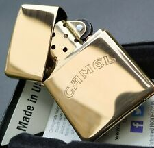 Zippo CAMEL, Words Only (Messing / High Polished Brass) 60001715
