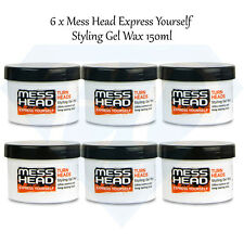 Mess Head Hair Styling Gel Wax - Ultra Control & Long Lasting Hold - 6 x 150ml