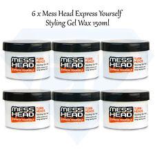 Mess Testa GEL per capelli Styling Cera-Ultra Controllo & Blocco di lunga durata - 6 x 150 ML
