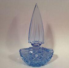 Vintage 1920's Czechoslovakia Blue Crystal Perfume Bottle, gl95  GIFT QUALITY!!