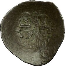 ALEXIUS III 1195AD Saint Constantine Jesus Christ Ancient Byzantine Coin i40319