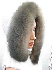 fourrure véritable renard bleu rayures col écharpe 71 cm NEUF G19 en