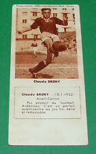 FOOTBALL BISCUITS REM 1958 CLAUDE BRENY UA SEDAN TORCY AGEDUCATIFS PANINI
