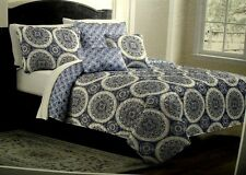 Taj 4 Piece Reversible Twin Coverlet Set