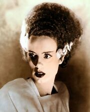 "ELSA LANCHESTER THE BRIDE OF FRANKENSTEIN 1935 11x14"" HAND COLOR TINTED PHOTO"
