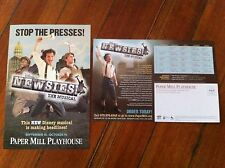 Newsies ad/flyer musical Paper Mill Playhouse NJ Disney RARE pre-broadway