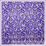 BonEful Fabric FQ Cotton Quilt VTG Purple White Flower Girl Damask Lace Calico S