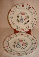 2 Johnson  Brothers Twelve Days of Christmas Salad Plates 9 Ladies Dancing