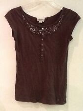 Abercrombie & Fitch Sexy Vintage Beaded sequin Top sz S small