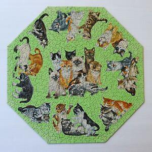 1960's Vintage COMPLETE Springbok Okta Puzzle KITTENS Octagon 8018 G GOODENOW