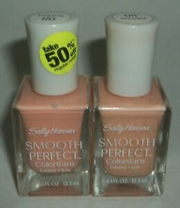 2 Sally Hansen Smooth Perfect ColorCare Nail Polish  Nail Enamel SORBET 08