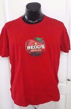 Redds Apple Ale Cider Beer Logo Promo Red T Shirt Large Rare