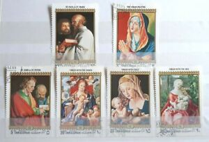 1972 UAE Umm Al Qiwain Full Set Of 6 Stamps - Albrecht Durer Paintings - PC/H