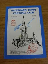 12/09/1987 Halesowen Town v Ashtree Highfield [FA Cup] (Creased, Marked).  When
