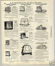 1937 PAPER AD Universal Chrome Toaster Magic Maid Modern Futuristic Electric