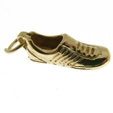 GOLD FOOTBALL or RUGBY BOOT CHARM.  HALLMARKED 9 CARAT GOLD RUGBY FOOTBALL CHARM