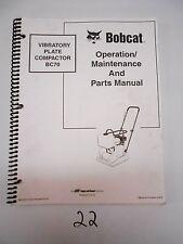 Bobcat BC70 Vibratory Compactor Operation Maintenance Parts Manual 6902027 7/02