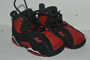 AIR JORDAN True Flight CU4936-001 Sneakers Infant size 7C Red Black Light Used